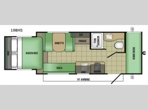 Launch Mini 19BHS Floorplan Image