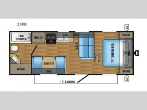 Jay Flight 23RB Floorplan Image