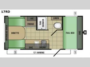 Autumn Ridge Mini 17RD Floorplan Image