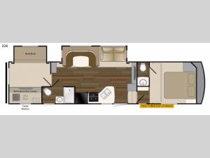 ElkRidge Xtreme Light 326 Floorplan Image