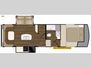 ElkRidge Xtreme Light 261 Floorplan Image