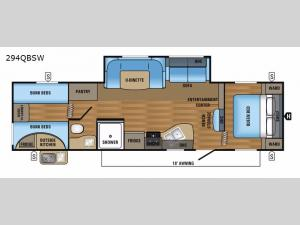 Jay Flight SLX 294QBSW Floorplan Image