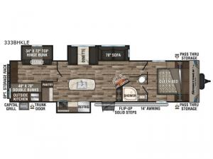 Sportsmen LE 333BHKLE Floorplan Image