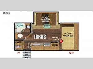 Creek Side Titanium Series 18RBS Floorplan Image