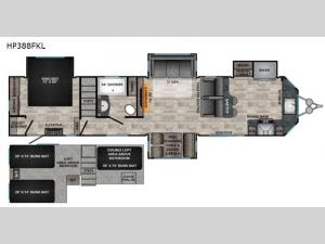 Hampton HP388FKL Floorplan Image