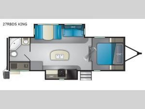 North Trail 27RBDS King Floorplan Image