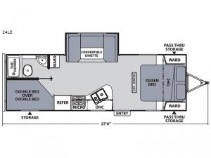 Apex Ultra-Lite 24LE Floorplan Image