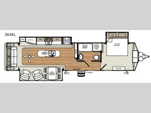 Sierra Destination Trailers 393RL Floorplan Image