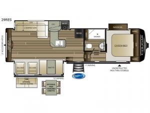 Cougar Half-Ton Series 29RES Floorplan Image