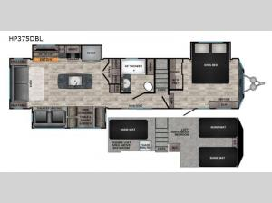 Hampton HP375DBL Floorplan Image
