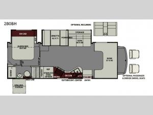 Leprechaun 280BH Ford 450 Floorplan Image
