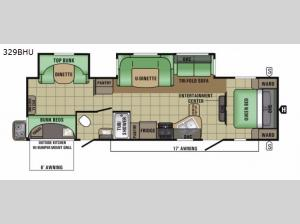 Autumn Ridge Grand Touring 329BHU Floorplan Image