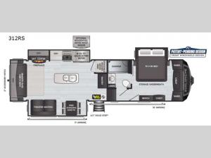 Avalanche 312RS Floorplan Image