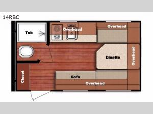 Conquest Lite 14RBC Floorplan Image
