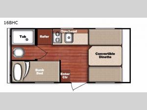 Conquest Lite 16BHC Floorplan Image