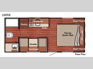 Conquest Lite 188RB Floorplan Image