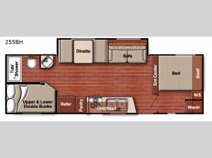 Conquest Lite 255BH Floorplan Image