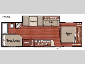 Conquest Lite 259BH Floorplan Image