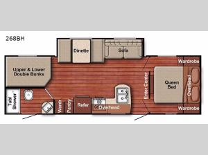 Conquest Lite 268BH Floorplan Image