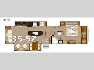 Arctic Silver Fox Edition 35-5Z Floorplan Image