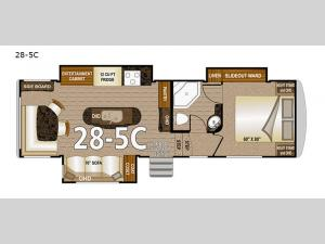 Arctic Silver Fox Edition 28-5C Floorplan Image