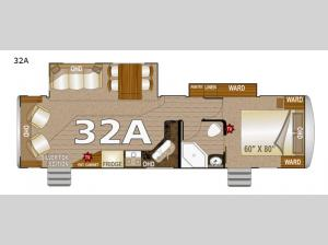 Arctic Silver Fox Edition 32A Floorplan Image