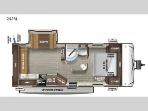 Super Lite 242RL Floorplan Image