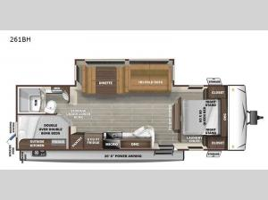 Super Lite 261BH Floorplan Image