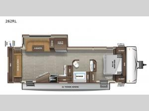 Super Lite 262RL Floorplan Image