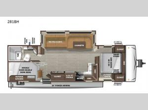 Super Lite 281BH Floorplan Image