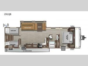 Super Lite 291QB Floorplan Image