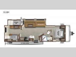 Super Lite 311BH Floorplan Image