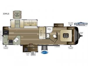 Cougar Half-Ton Series 33MLS Floorplan Image