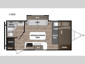 Kodiak Cub 178RB Floorplan Image