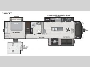 Retreat 391LOFT Floorplan Image