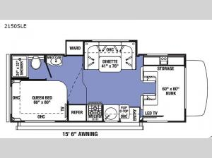 Sunseeker LE 2150SLE Ford Floorplan Image