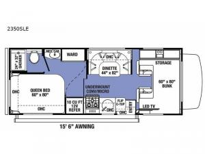 Sunseeker LE 2350SLE Ford Floorplan Image