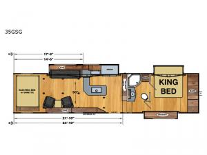 Attitude Widebody 35GSG Floorplan Image
