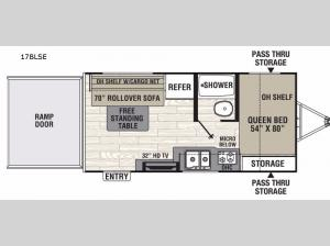 Freedom Express 17BLSE Floorplan Image