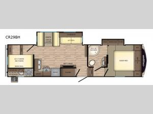 Cruiser Aire CR29BH Floorplan Image