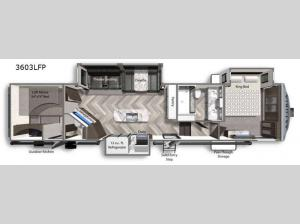 Astoria 3603LFP Floorplan Image