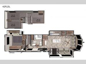 Wildwood Grand Lodge 42FLDL Floorplan Image