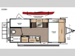 Catalina Expedition 192BH Floorplan Image