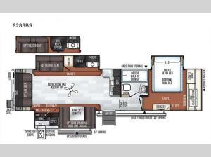 Rockwood Signature Ultra Lite 8288BS Floorplan Image