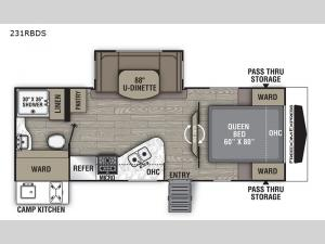 Freedom Express Ultra Lite 231RBDS Floorplan Image