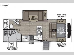 Freedom Express Ultra Lite 238BHS Floorplan Image