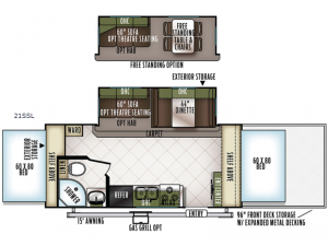 Flagstaff Shamrock 21SSL Floorplan Image