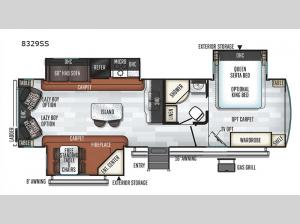 Rockwood Signature Ultra Lite 8329SS Floorplan Image
