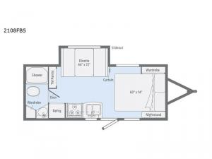 Micro Minnie 2108FBS Floorplan Image