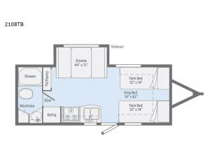Micro Minnie 2108TB Floorplan Image